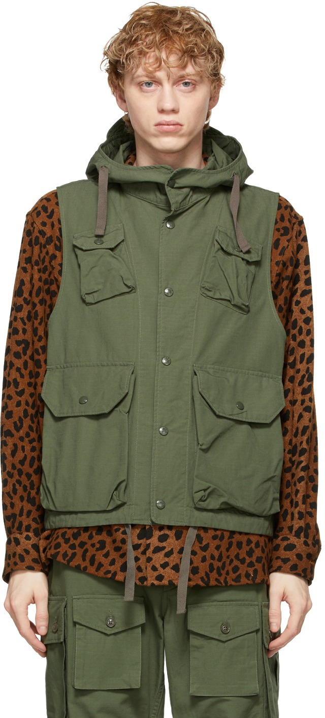 Green Cotton Ripstop Field Vest