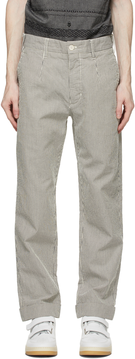 Navy & White Seersucker Striped Andover Trousers