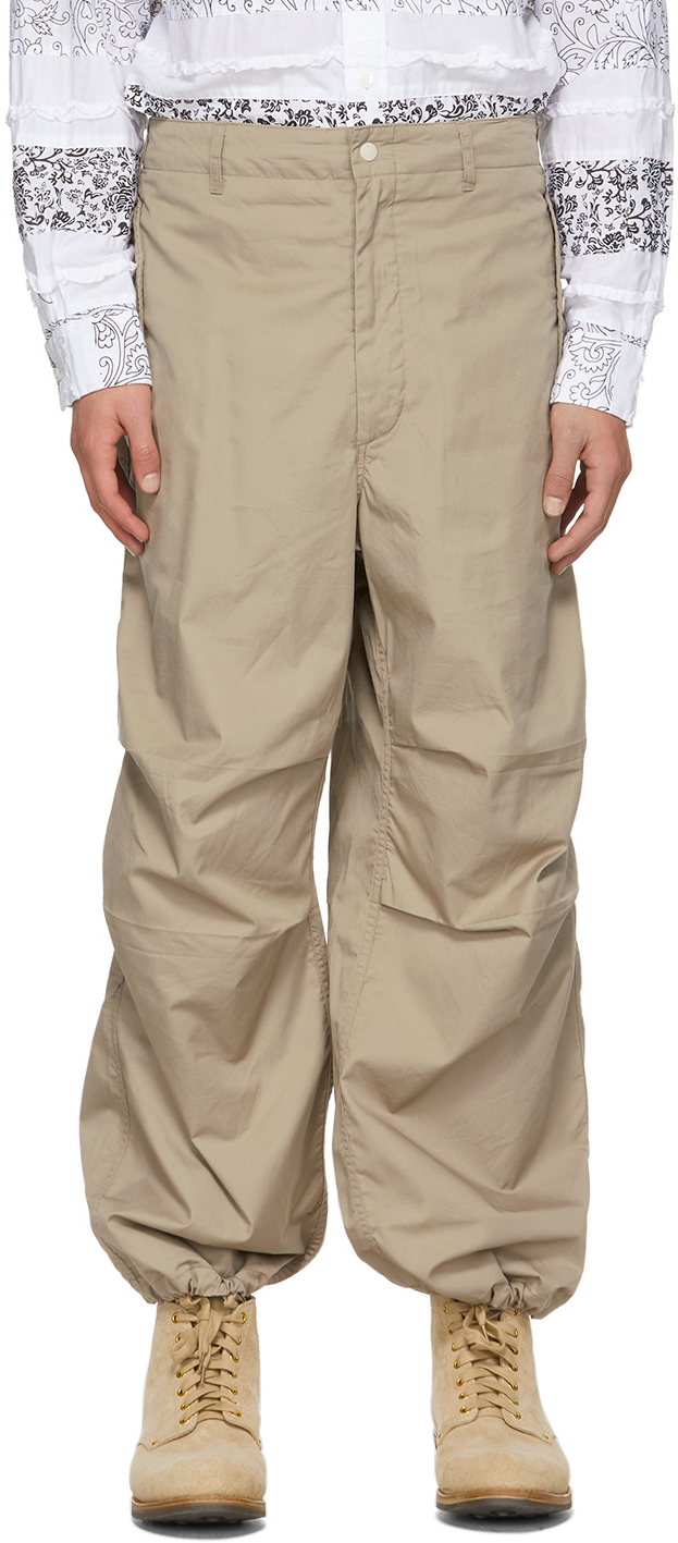 Beige Twill Over Trousers