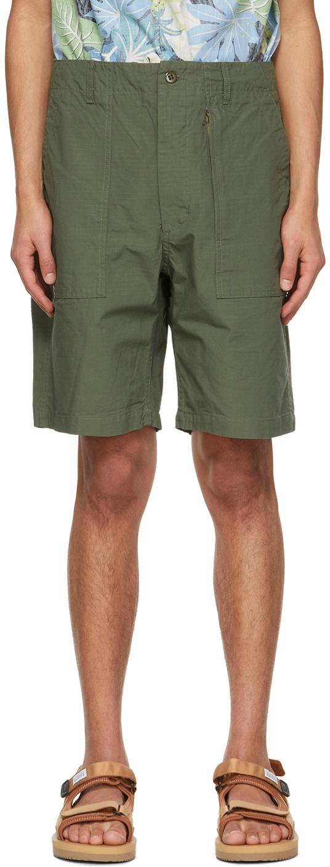 Khaki Ripstop Fatigue Shorts