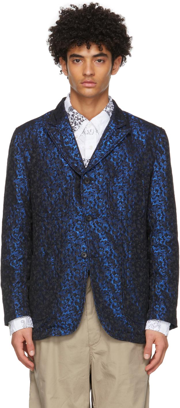 Black & Blue Jacquard Shiny NB Blazer