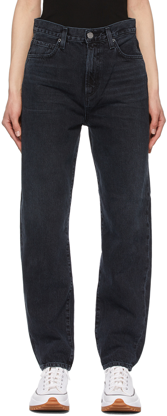 Black 'The Peg' Jeans