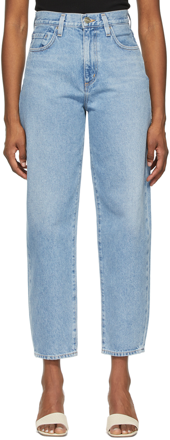 Blue 'The Curved' Jeans