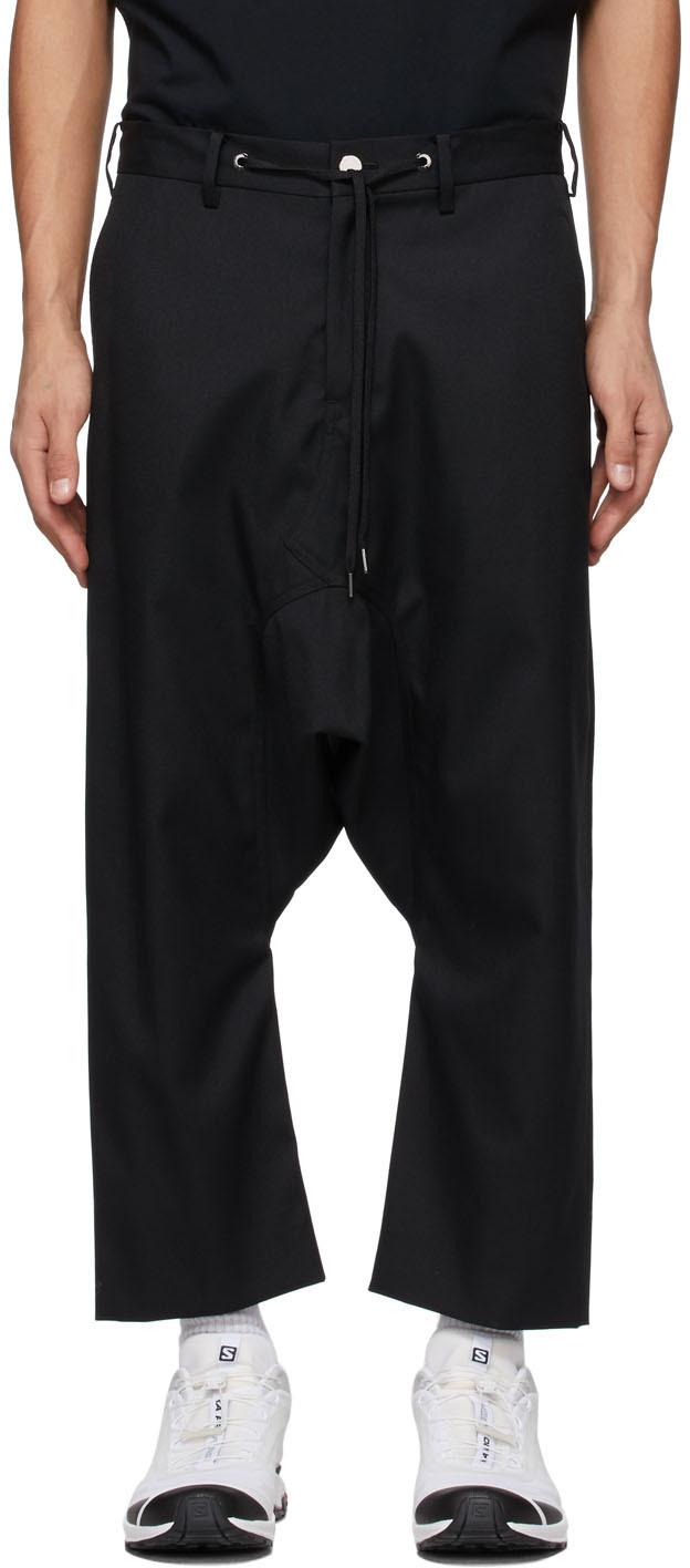 Fumito Ganryu 黑色 Sarouel 长裤