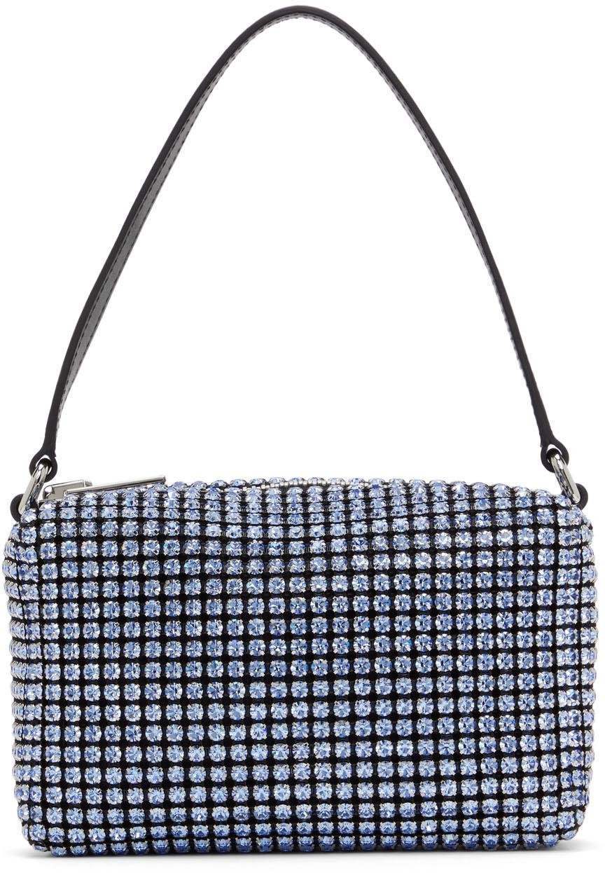 Alexander Wang Blue Medium Rhinestone Heiress Bag