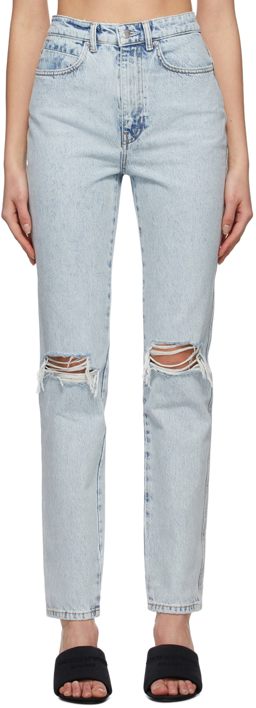 Alexander Wang Blue Dipped Back Jeans