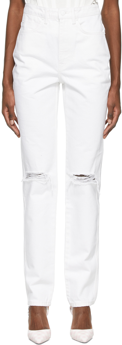 Alexander Wang White Dipped Back Jeans