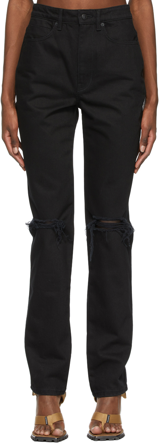 Alexander Wang Black Dipped Back Jeans