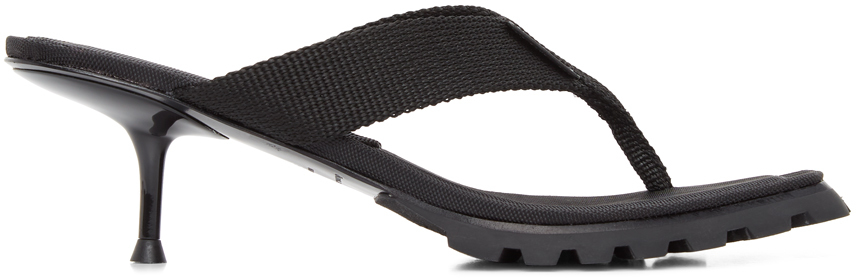 Alexander Wang Black Jessie Lug Heeled Sandals