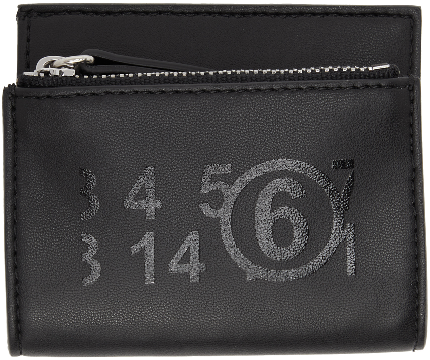 MM6 Maison Margiela 黑色徽标钱包