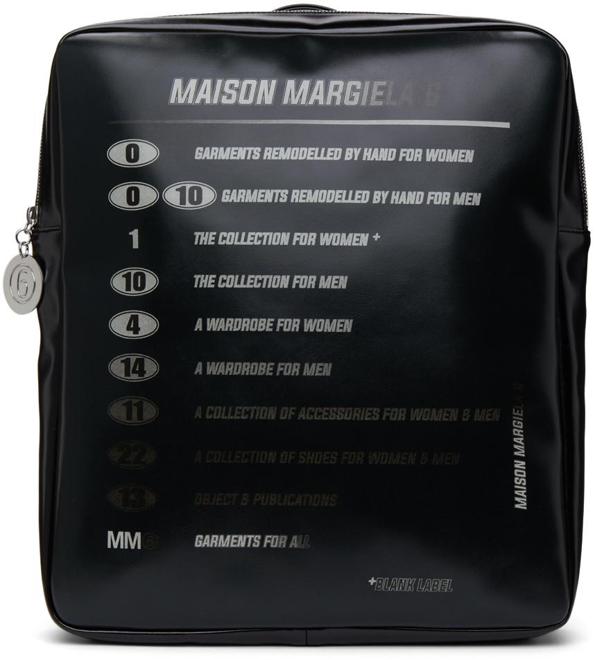 Black Motorcross Logo Backpack