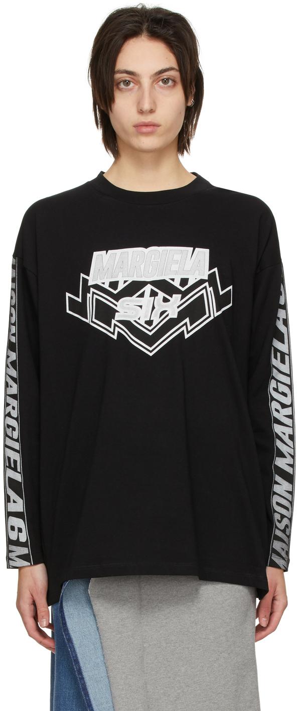 MM6 Maison Margiela 黑色 Motocross Logo 长袖 T 恤