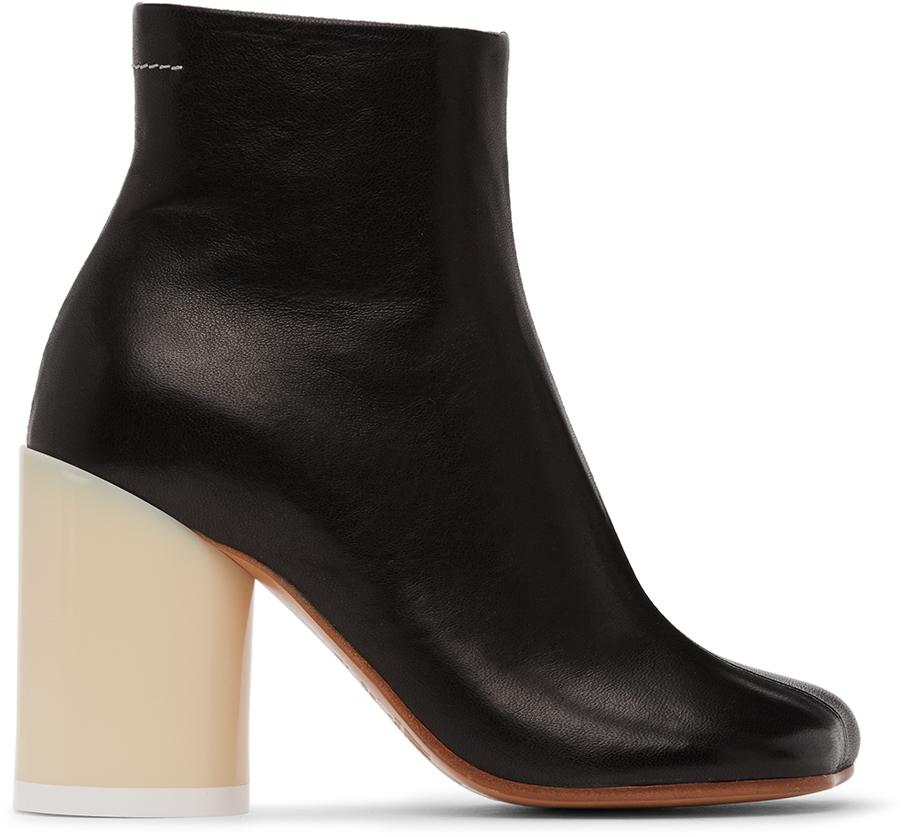 MM6 Maison Margiela 黑色高跟踝靴