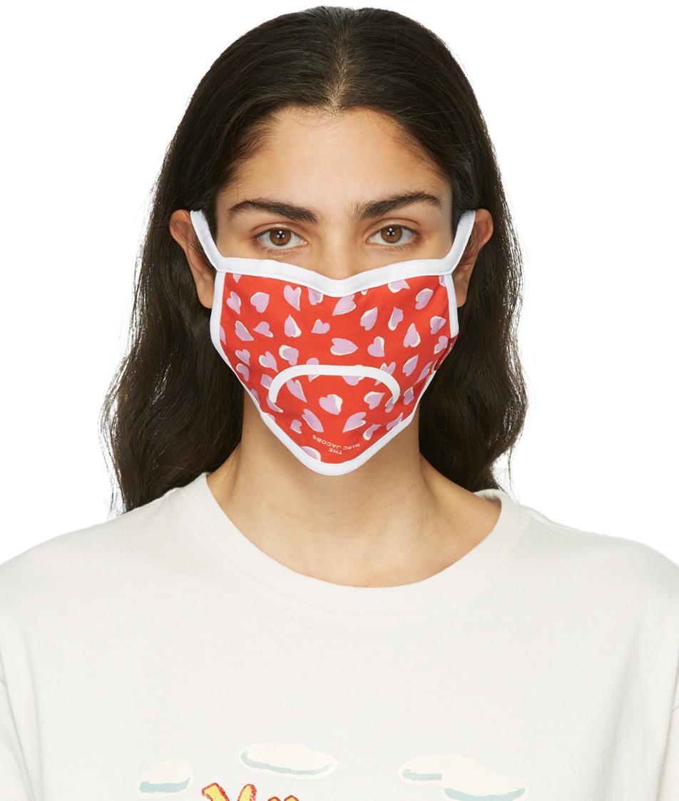 Marc Jacobs 三件装多色 Smiley 口罩