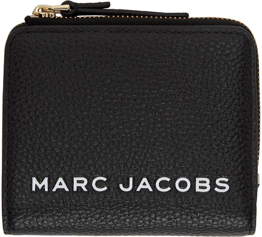 Black Mini Compact Zip Wallet