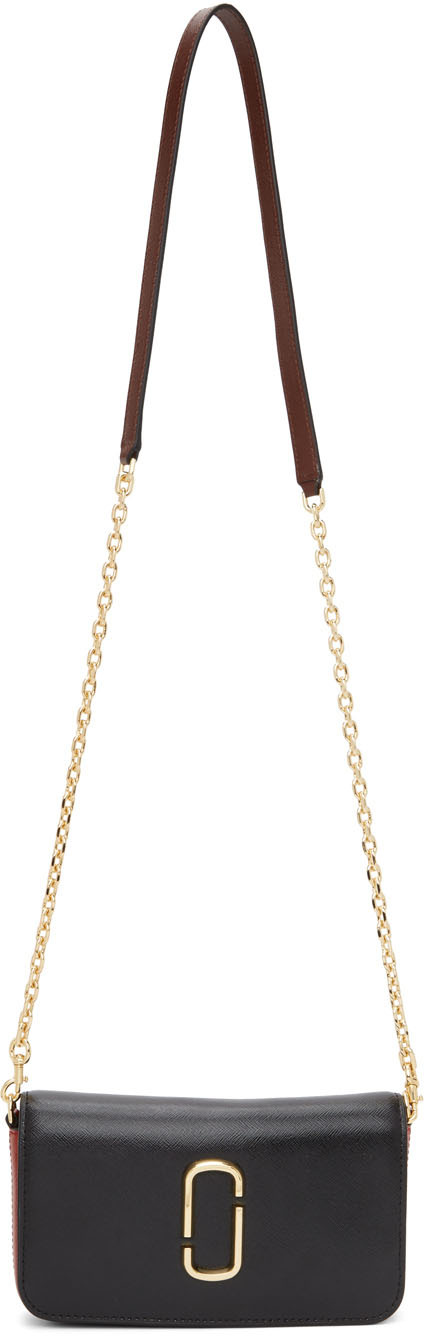Black & Red 'The Snapshot' Chain Wallet Bag