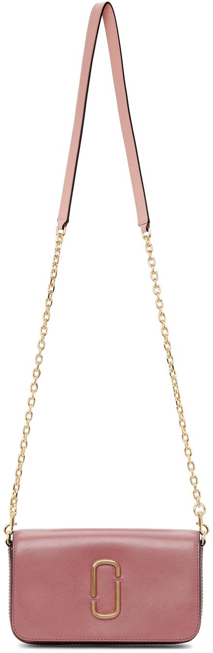 Pink & Burgundy 'The Snapshot' Chain Wallet Bag