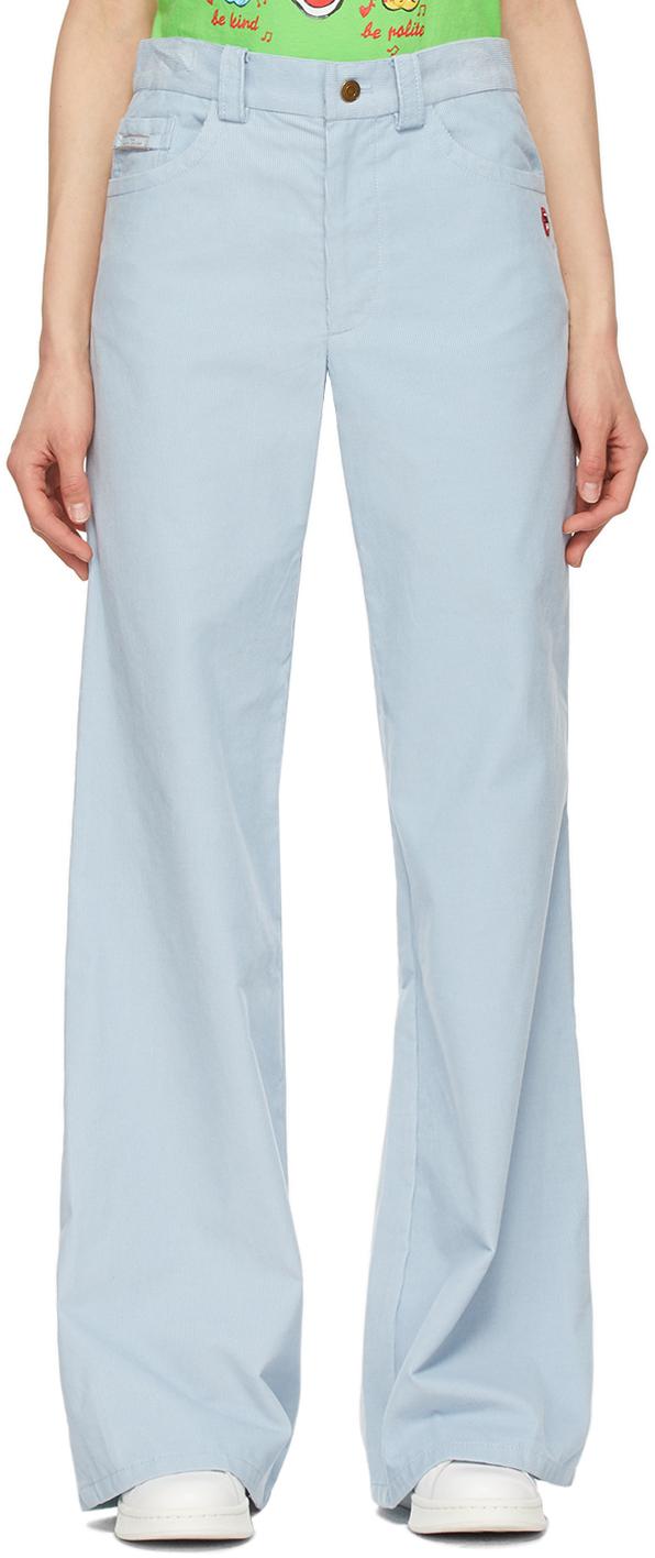 Marc Jacobs 蓝色 The Flared 灯芯绒牛仔裤