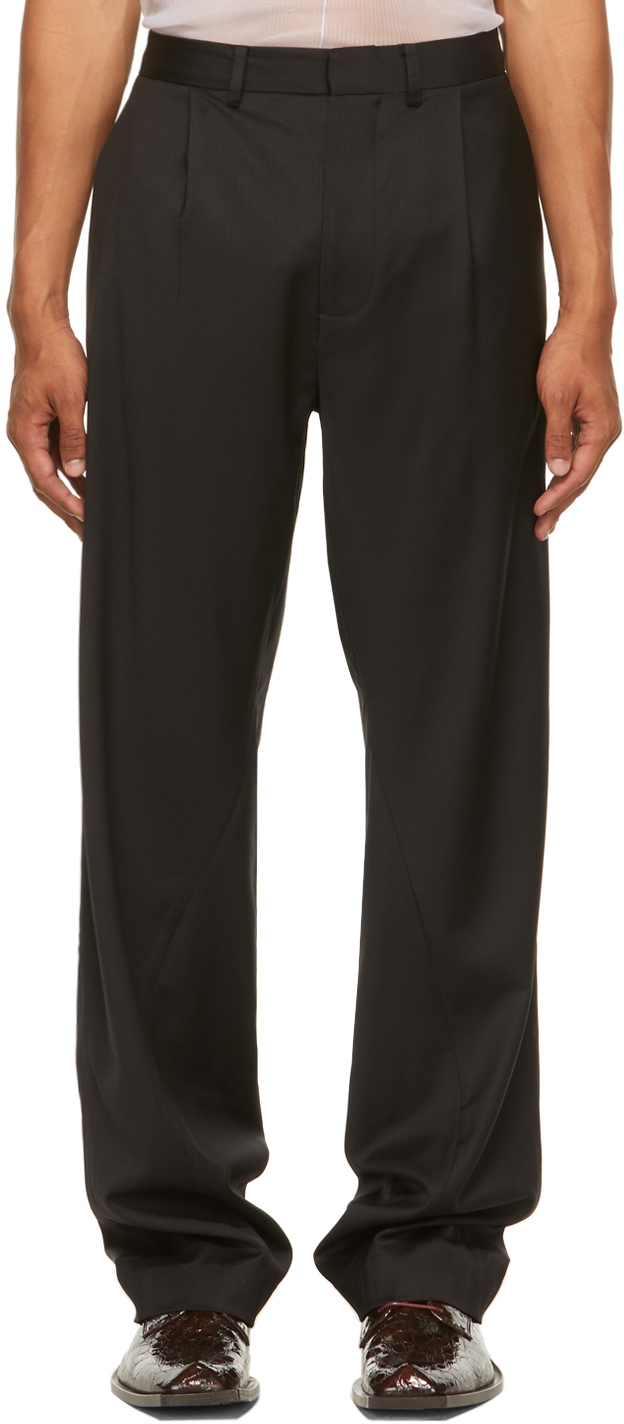 Black Twisted Tailored Trousers