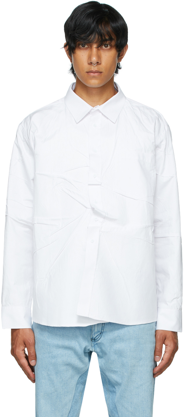 White Poplin Misfit Shirt