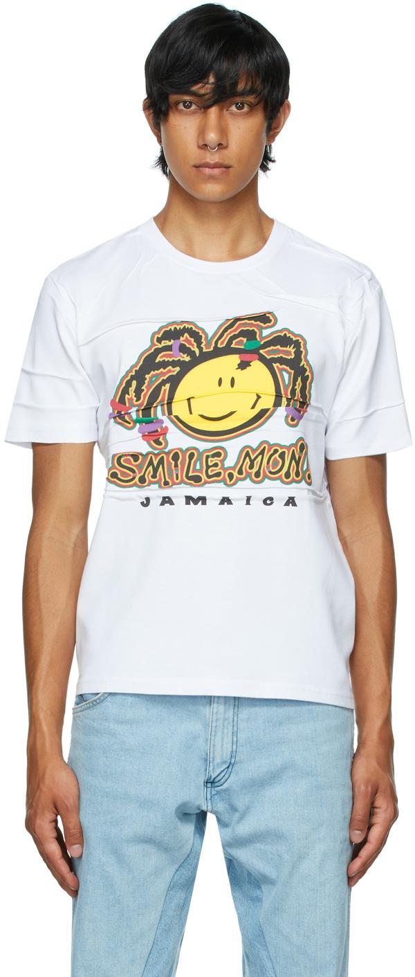 White Ruched Tourist Jamaica T-Shirt