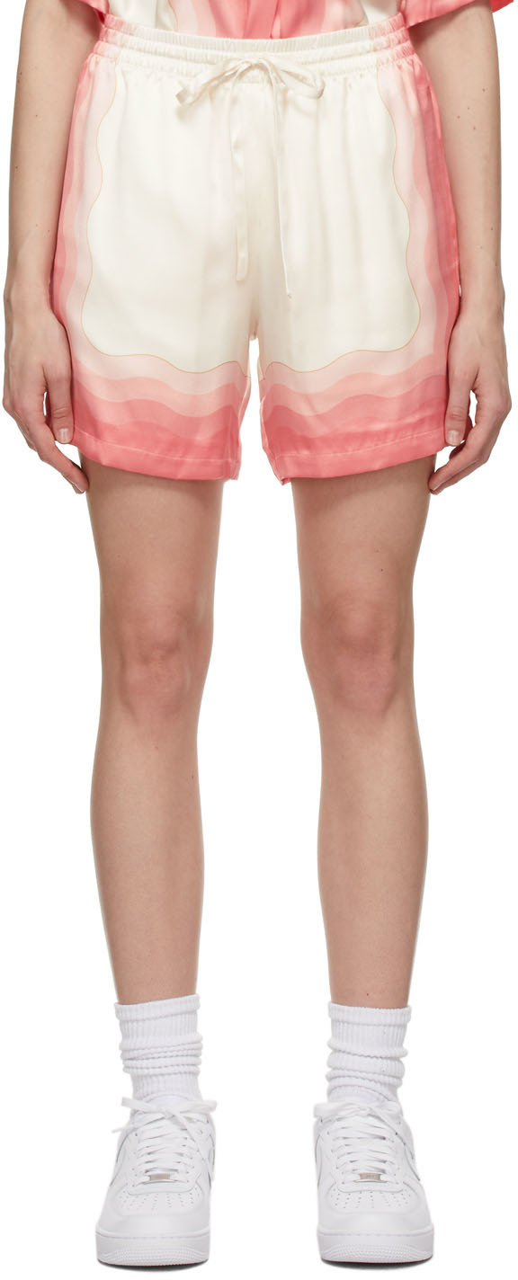 Multicolor Silk Lucid Dreams Printed Shorts