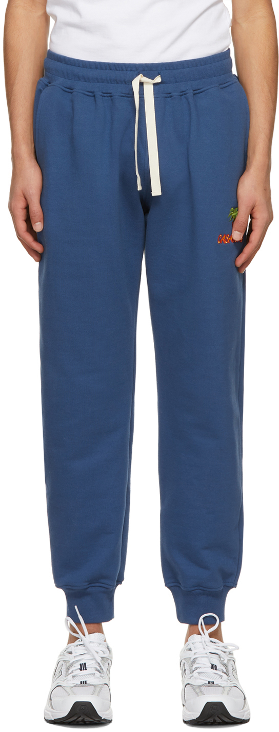 Navy Embroidered 'Casaway' Lounge Pants