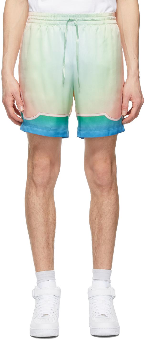 Multicolor Silk Lucid Dream Shorts