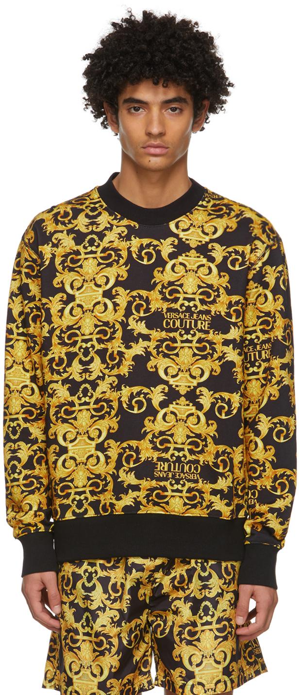 Versace Jeans Couture Black Barocco Sweatshirt