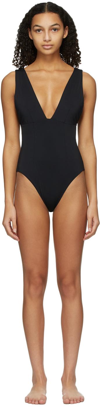 Black Crepe Raquel One-Piece Swimsuit