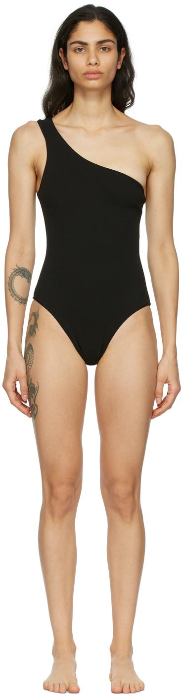 Black Crepe Organic One-Piece Swimsuit