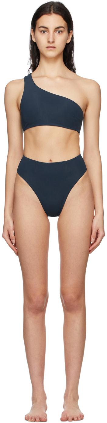 Blue Perlin Highleg Hotpants Bikini