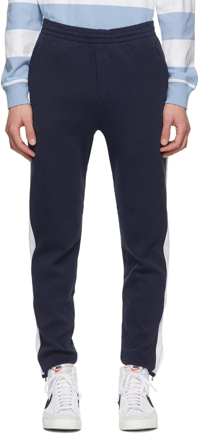 Navy Cotton Interlock Track Pants