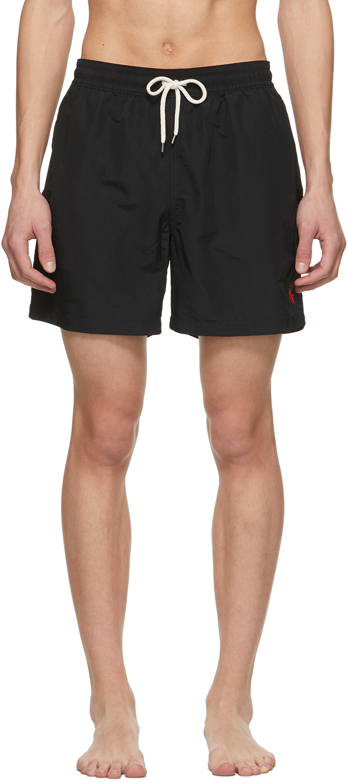 Black Traveler Swim Shorts