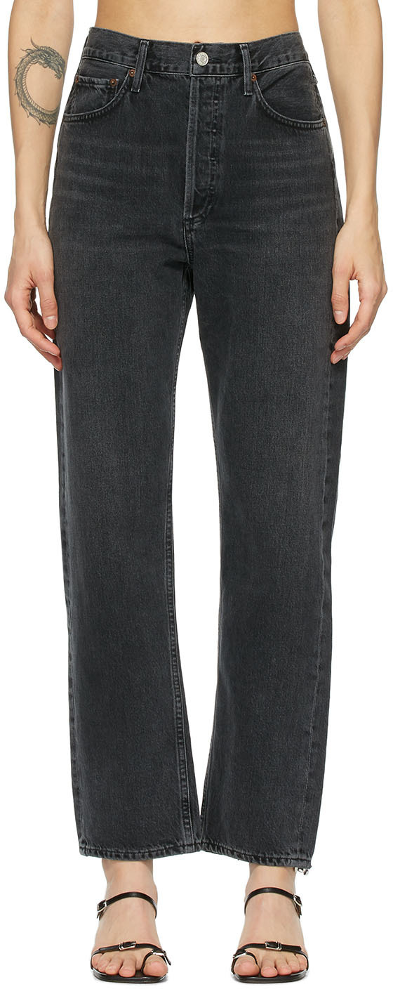 AGOLDE Grey 90's Mid-Rise Loose Fit Jeans