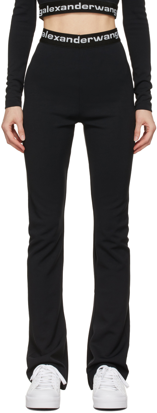 Black Flared Logo Elastic Lounge Pants