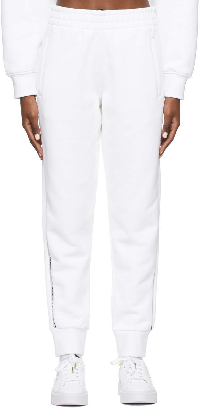 White Logo Tape Lounge Pants