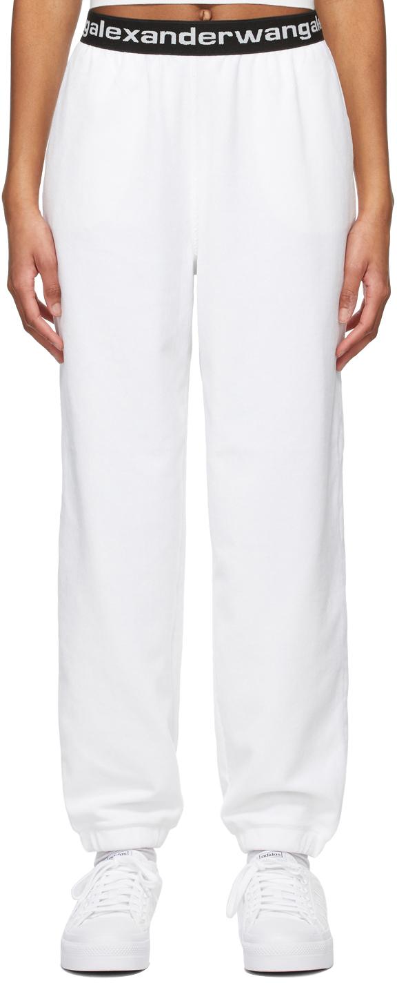 White Stretch Corduroy Lounge Pants