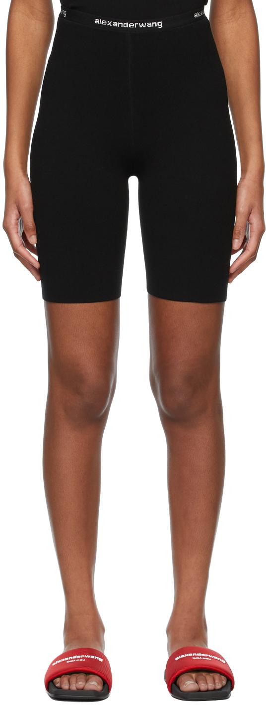 Black Logo Bike Shorts