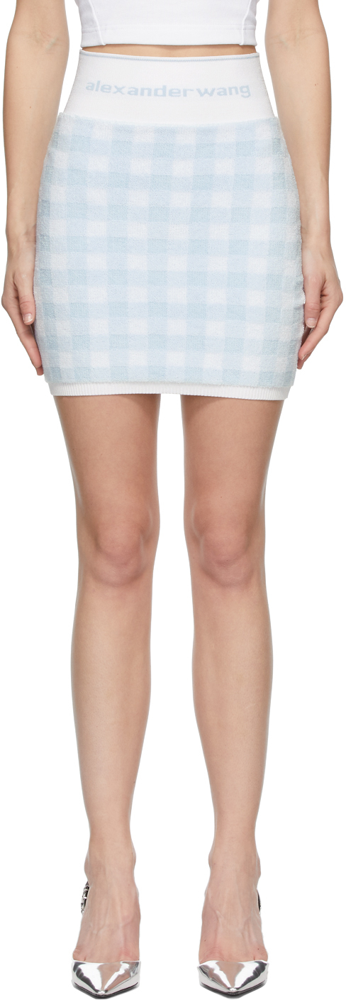 alexanderwang.t 蓝色 & 白色嘉顿格徽标短裙
