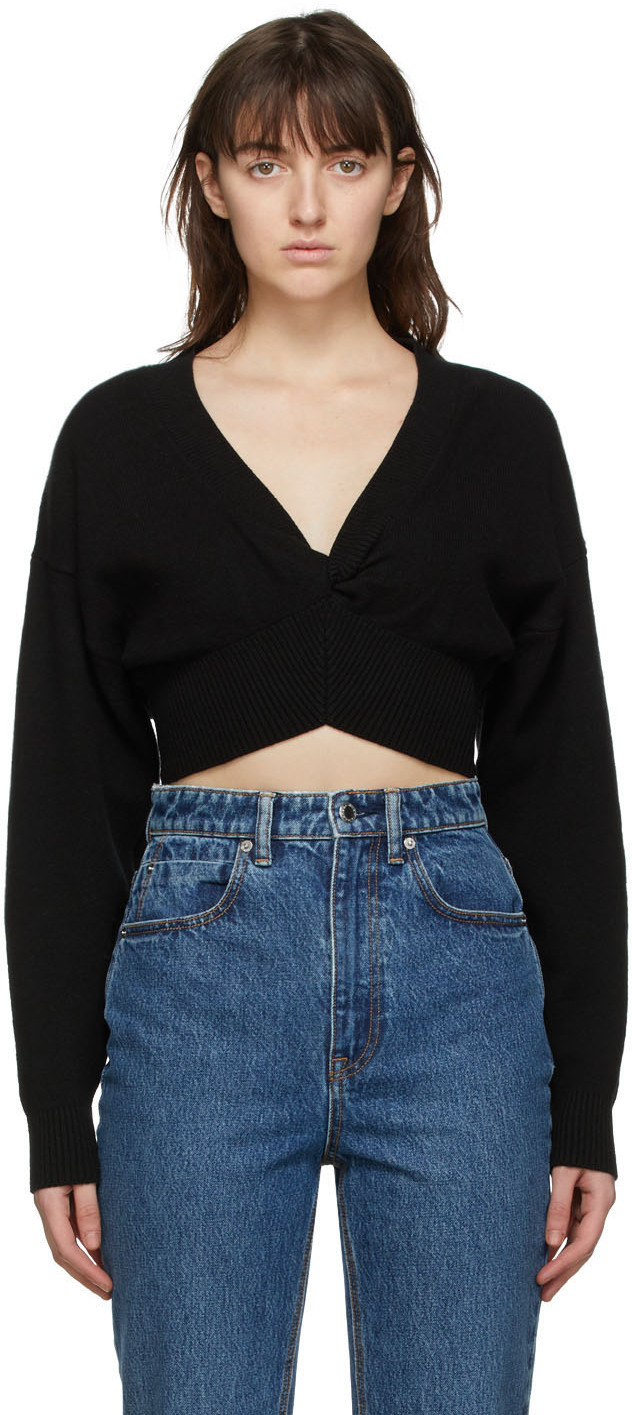 Black Wool Twist Sweater