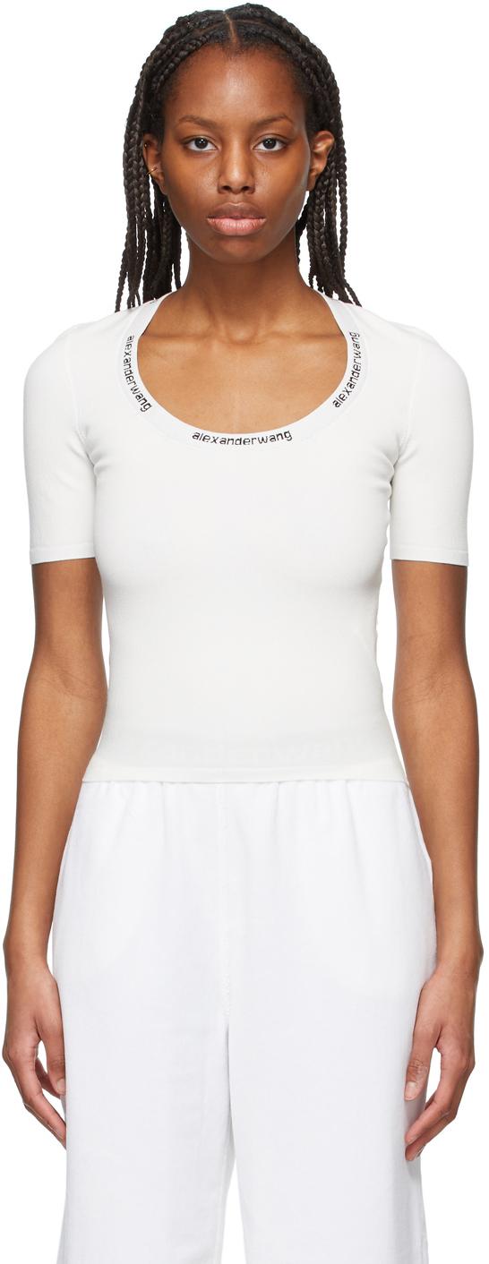 White Logo Bodycon T-Shirt