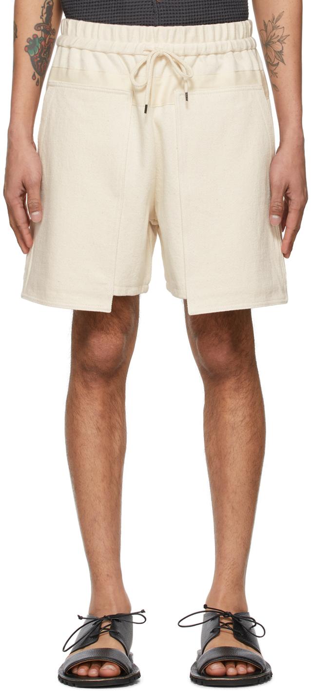 Off-White Denim Loose Baker Shorts