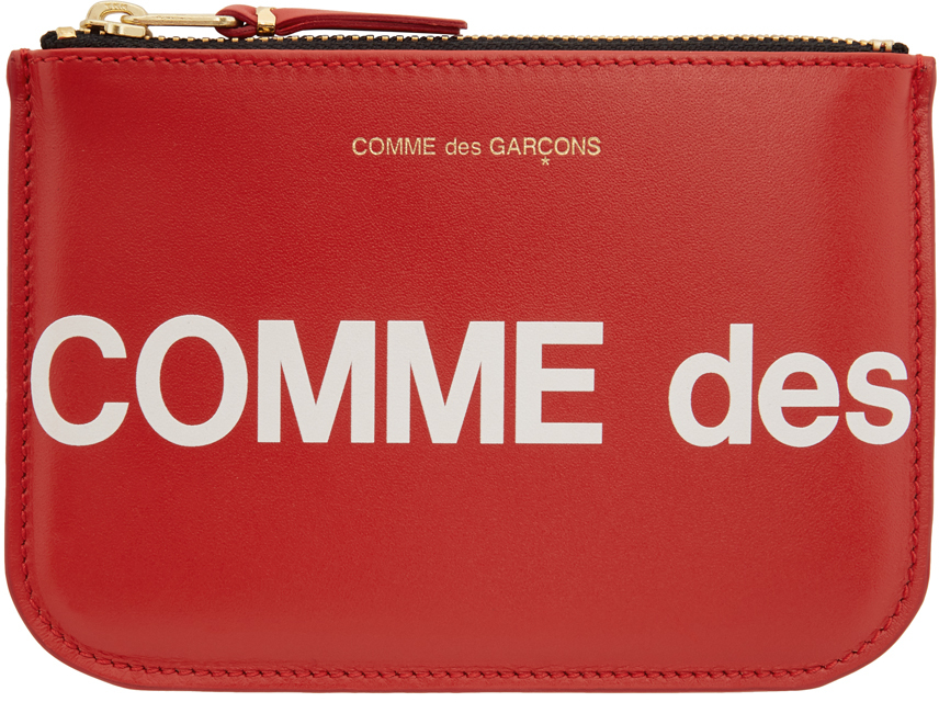 Red Huge Logo Pouch