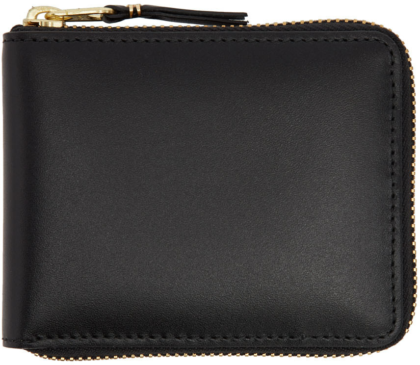 Black Line Zip Around Wallet
