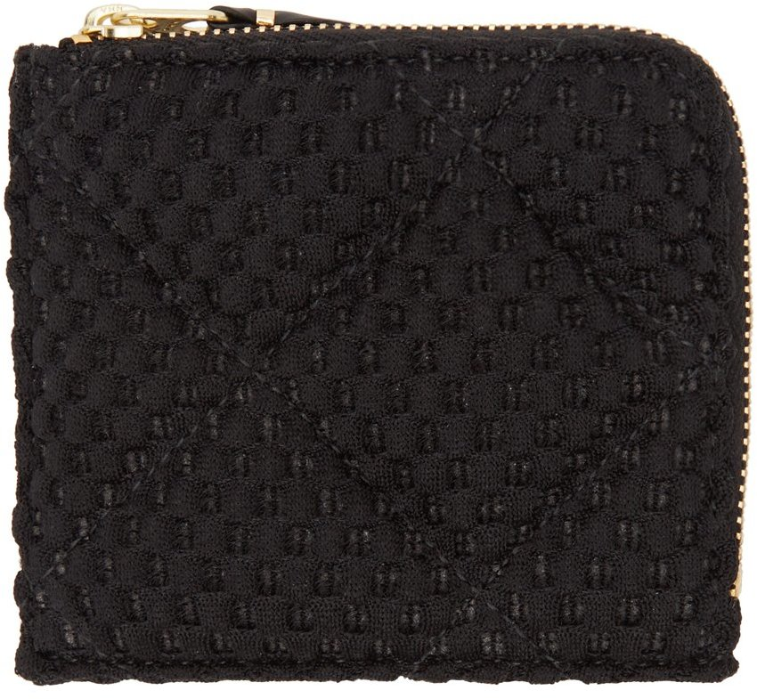 Black Quilted Fat Tortoise Wallet