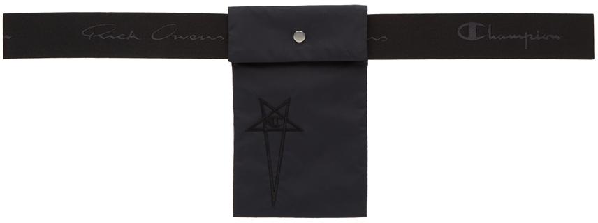 Black Champion Edition Nylon Pouch