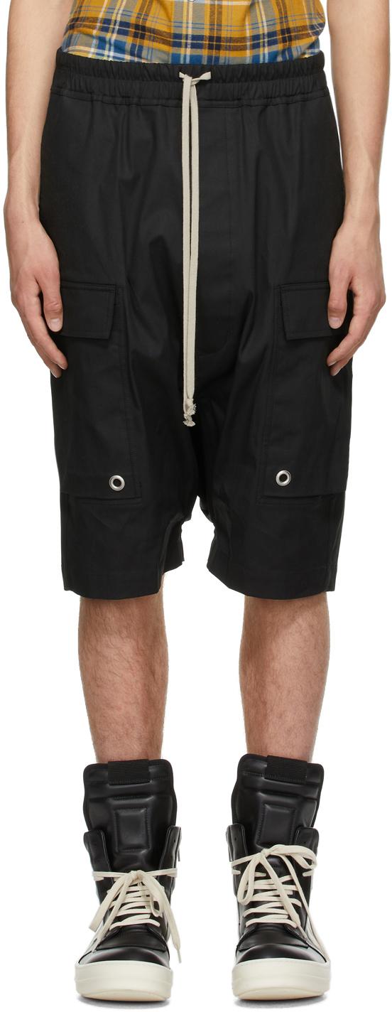 Rick Owens 黑色 Cargo Pods 短裤