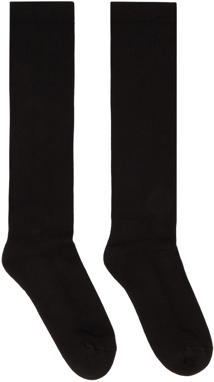 Black Logo Crew Socks