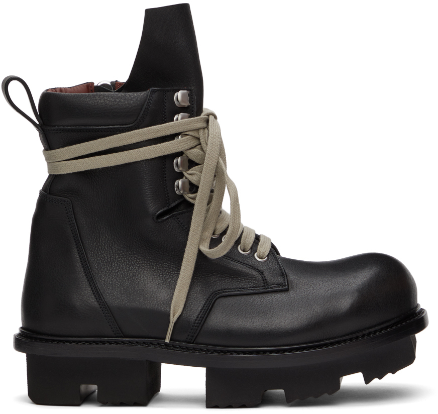 Rick Owens 黑色 Army Megatooth 踝靴